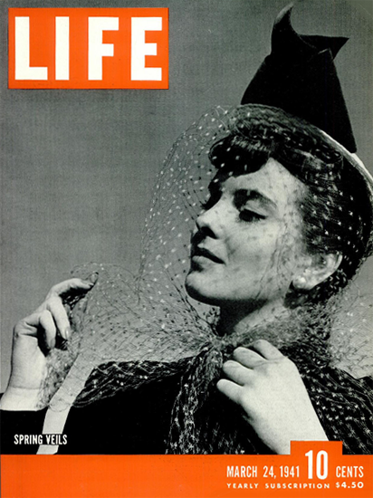Spring Veils 24 Mar 1941 Copyright Life Magazine | Life Magazine BW Photo Covers 1936-1970