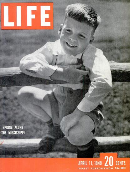Spring along the Mississippi 11 Apr 1949 Copyright Life Magazine   Life Magazine BW Photo Covers 1936-1970