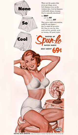Spun-lo Panties Girl 1954 Knit Fit Sit None So Cool | Sex Appeal Vintage Ads and Covers 1891-1970