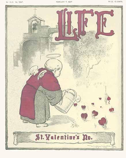 St Valentines No Life Humor Magazine 1907-02-07 Copyright | Life Magazine Graphic Art Covers 1891-1936