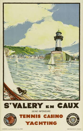 St Valery En Caux Tennis Casino Yachting France | Vintage Travel Posters 1891-1970