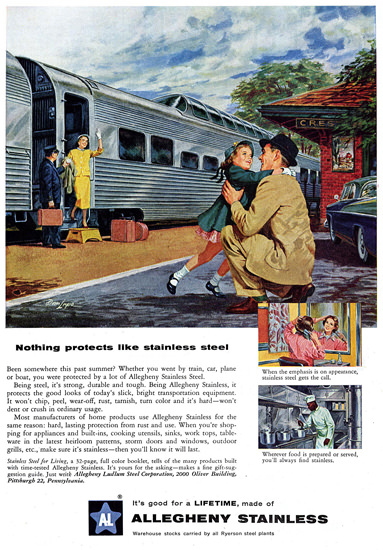 Stainless Steel Train Allegheny Stainless | Vintage Ad and Cover Art 1891-1970