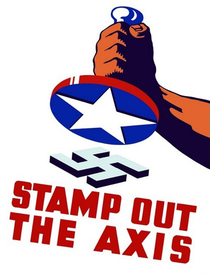 Stamp Out The Axis Smash The Nazi Swastika | Vintage War Propaganda Posters 1891-1970
