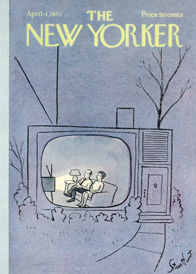 Stan Hunt The New Yorker 1970_04_04 Copyright | The New Yorker Graphic Art Covers 1946-1970