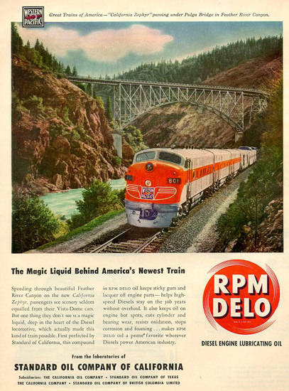 Standard Oil Western Pacific 1949 | Vintage Ad and Cover Art 1891-1970