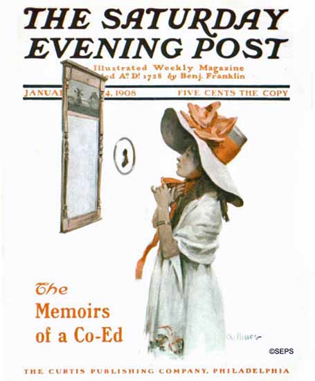 Stanley M Arthurs Saturday Evening Post Cover Art 1908_01_04 | The Saturday Evening Post Graphic Art Covers 1892-1930