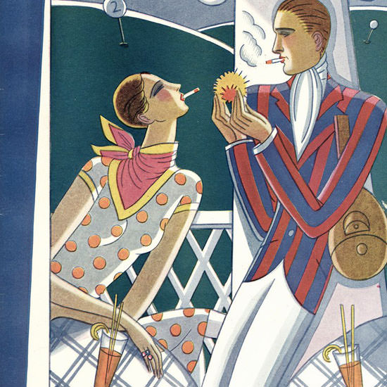 Stanley W Reynolds The New Yorker 1926_08_07 Copyright crop | Best of Vintage Cover Art 1900-1970