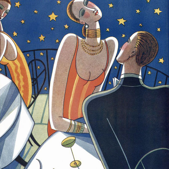 Stanley W Reynolds The New Yorker 1927_07_23 Copyright crop | Best of 1920s Ad and Cover Art