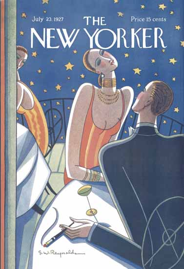 Stanley W Reynolds The New Yorker 1927_07_23 Copyright | The New Yorker Graphic Art Covers 1925-1945