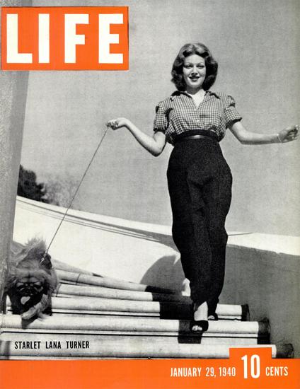 Starlet Lana Turner 29 Jan 1940 Copyright Life Magazine | Life Magazine BW Photo Covers 1936-1970
