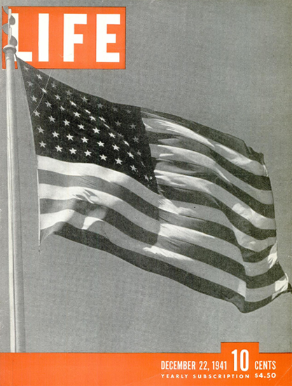 Stars and Stripes 22 Dec 1941 Copyright Life Magazine | Life Magazine BW Photo Covers 1936-1970