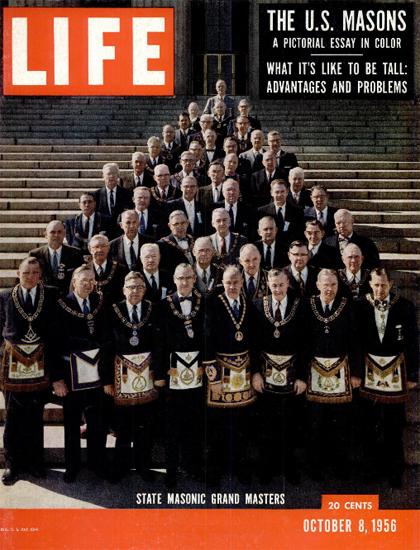 State Masonic Grand Masters 8 Oct 1956 Copyright Life Magazine   Life Magazine Color Photo Covers 1937-1970