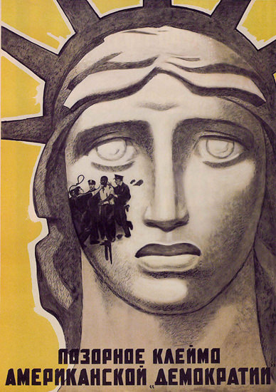 Statue Of Liberty USSR Russia 1628 CCCP | Vintage War Propaganda Posters 1891-1970