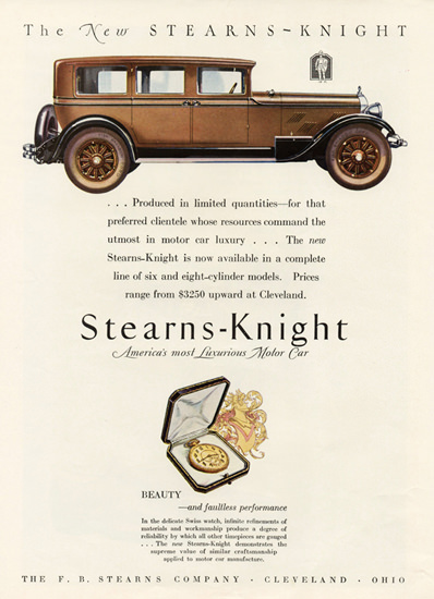 Stearns Knight 7 P Sedan Cleveland 1927 | Vintage Cars 1891-1970