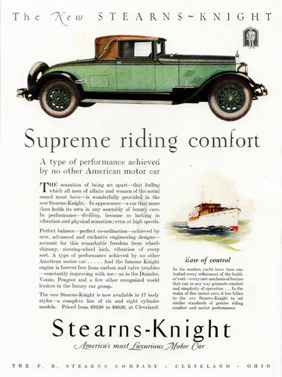 Stearns Knight Cabriolet Cleveland 1927 | Vintage Cars 1891-1970