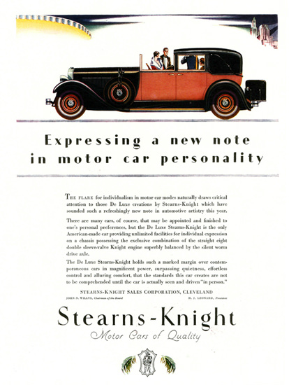 Stearns Knight De Luxe Town Car 1928 Personality | Vintage Cars 1891-1970
