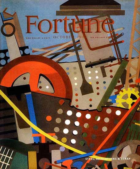 Steel Allocations and Scrap Fortune Magazine October 1942 Copyright | Fortune Magazine Graphic Art Covers 1930-1959