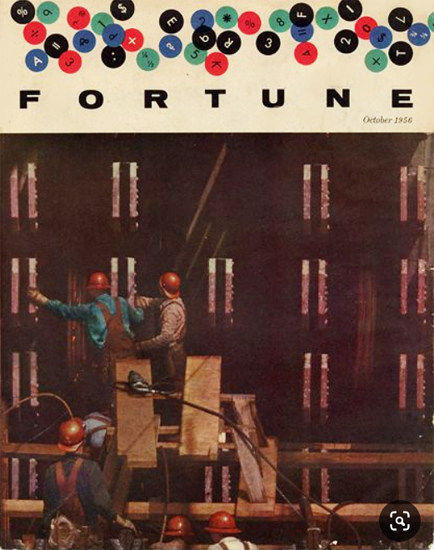 Steel Builds for a New Era Fortune Magazine October 1956 Copyright   Fortune Magazine Graphic Art Covers 1930-1959