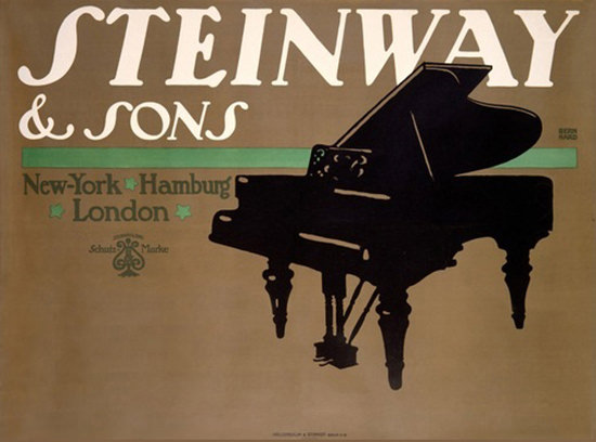 Steinway And Sons Pianos New York London | Vintage Ad and Cover Art 1891-1970