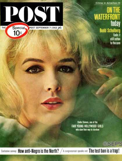Stella Stevens Saturday Evening Post 1963_09_07 | Sex Appeal Vintage Ads and Covers 1891-1970
