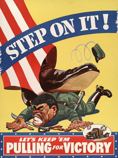 Step On It Uncle Sam For Victory | Vintage War Propaganda Posters 1891-1970