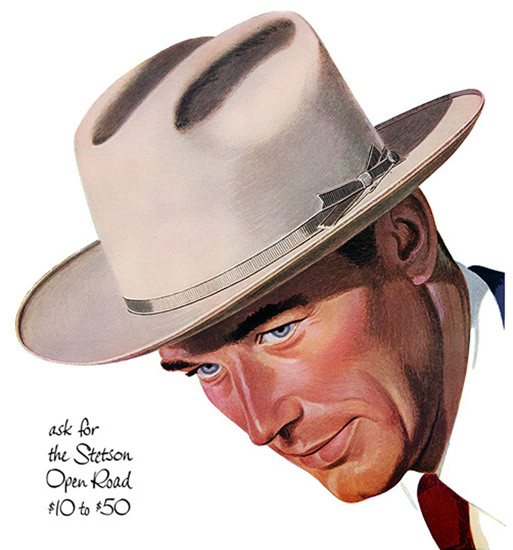 Stetson Hat Open Road | Vintage Ad and Cover Art 1891-1970