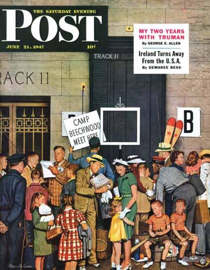 Stevan Dohanos Cover Artist Saturday Evening Post 1947_06_21 | The Saturday Evening Post Graphic Art Covers 1931-1969