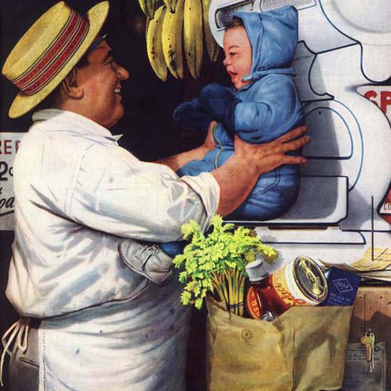 Stevan Dohanos Saturday Evening Post 1952_04_05 Copyright crop | Best of Vintage Cover Art 1900-1970