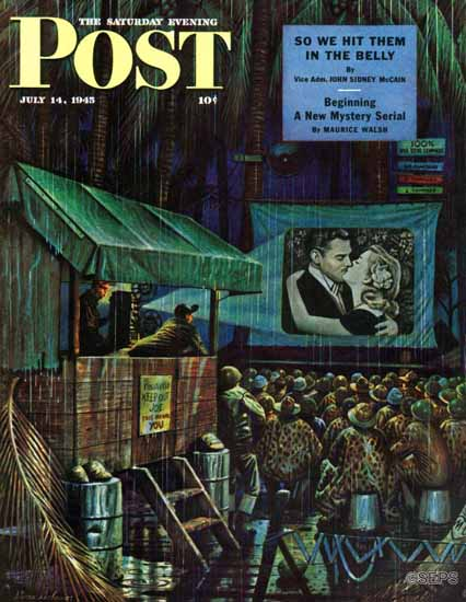 Stevan Dohanos Saturday Evening Post Army Entertainment 1945_07_14   The Saturday Evening Post Graphic Art Covers 1931-1969