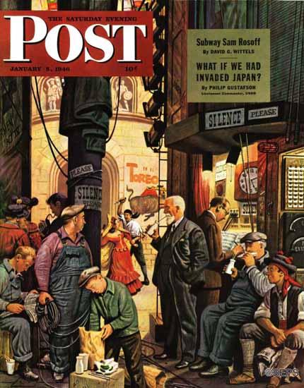 Stevan Dohanos Saturday Evening Post Backstage at the Met 1946_01_05 | The Saturday Evening Post Graphic Art Covers 1931-1969