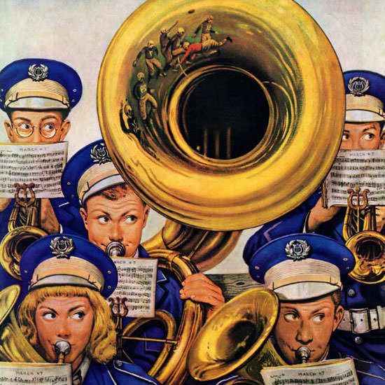 Stevan Dohanos Saturday Evening Post Band 1946_10_19 Copyright crop | Best of Vintage Cover Art 1900-1970