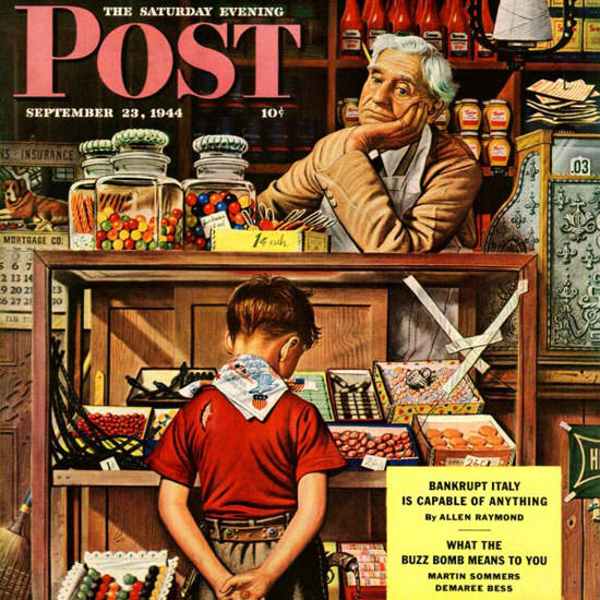 Stevan Dohanos Saturday Evening Post Candy 1944_09_23 Copyright crop | Best of Vintage Cover Art 1900-1970