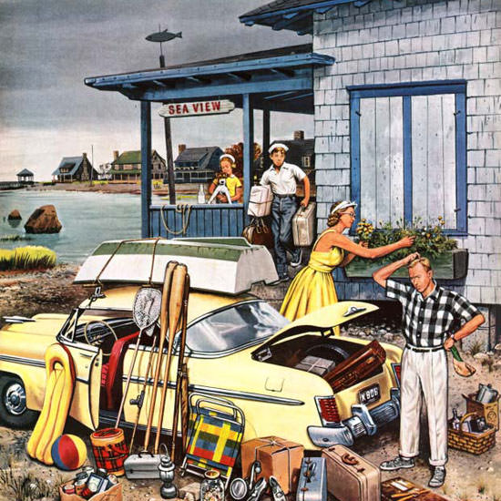 Stevan Dohanos Saturday Evening Post Car 1956_09_08 Copyright crop | Best of Vintage Cover Art 1900-1970