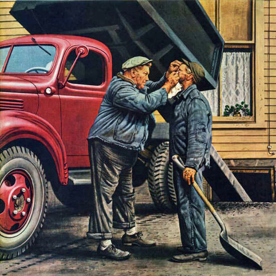 Stevan Dohanos Saturday Evening Post Coal 1947_10_18 Copyright crop | Best of Vintage Cover Art 1900-1970