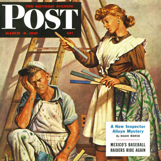 Stevan Dohanos Saturday Evening Post Color 1947_03_08 Copyright crop | Best of Vintage Cover Art 1900-1970