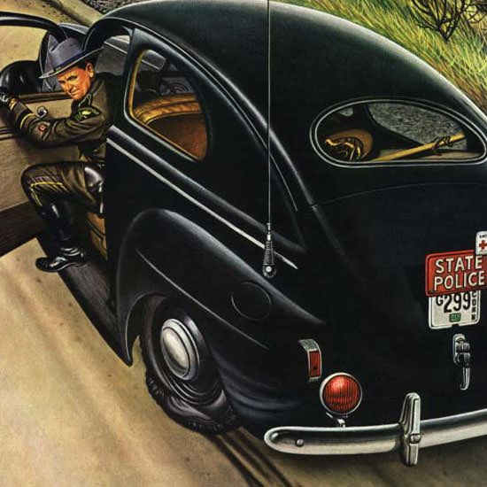 Stevan Dohanos Saturday Evening Post Flat 1945_03_24 Copyright crop | Best of Vintage Cover Art 1900-1970