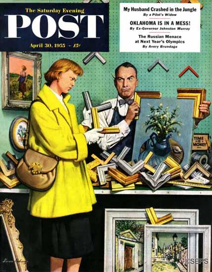 Stevan Dohanos Saturday Evening Post Frame-Up 1955_04_30   The Saturday Evening Post Graphic Art Covers 1931-1969