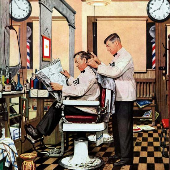 Stevan Dohanos Saturday Evening Post Hair 1946_01_26 Copyright crop | Best of Vintage Cover Art 1900-1970