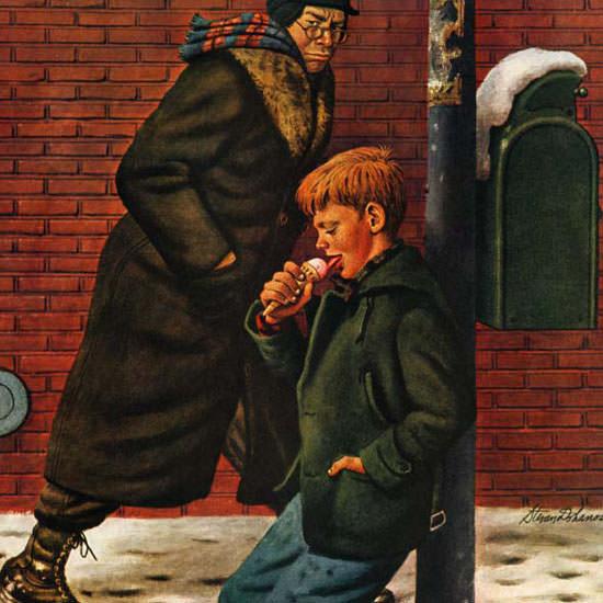 Stevan Dohanos Saturday Evening Post Ice 1947_02_08 Copyright crop | Best of Vintage Cover Art 1900-1970