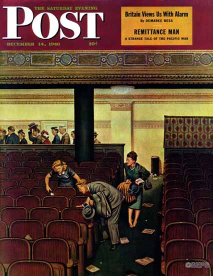 Stevan Dohanos Saturday Evening Post Lost Shoe 1946_12_14 | The Saturday Evening Post Graphic Art Covers 1931-1969