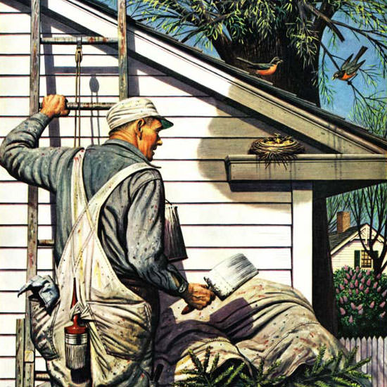 Stevan Dohanos Saturday Evening Post Nest 1945_05_12 Copyright crop | Best of Vintage Cover Art 1900-1970