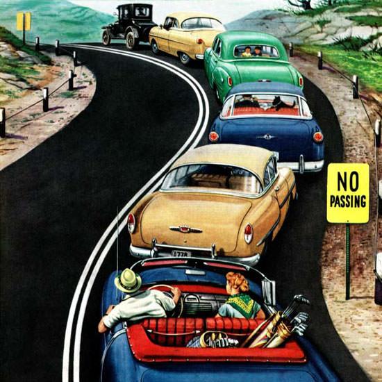 Stevan Dohanos Saturday Evening Post No 1954_10_09 Copyright crop | Best of Vintage Cover Art 1900-1970