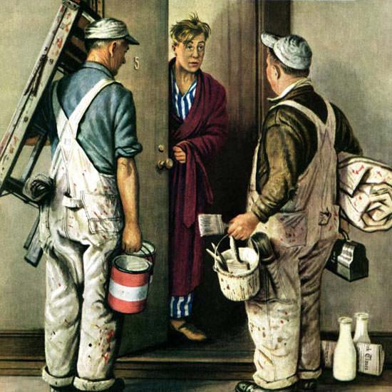 Stevan Dohanos Saturday Evening Post Painter 1948_05_01 Copyright crop | Best of Vintage Cover Art 1900-1970