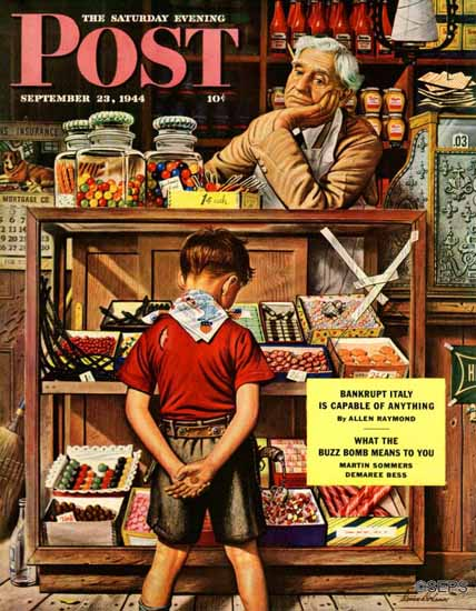 Stevan Dohanos Saturday Evening Post Penny Candy 1944_09_23   The Saturday Evening Post Graphic Art Covers 1931-1969