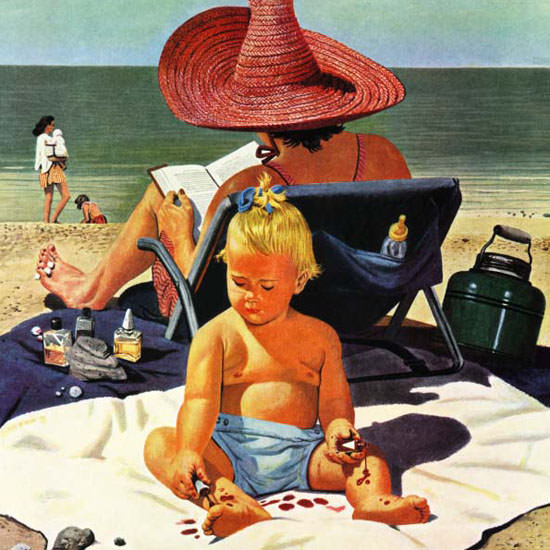 Stevan Dohanos Saturday Evening Post Polish 1950_07_22 Copyright crop | Best of Vintage Cover Art 1900-1970