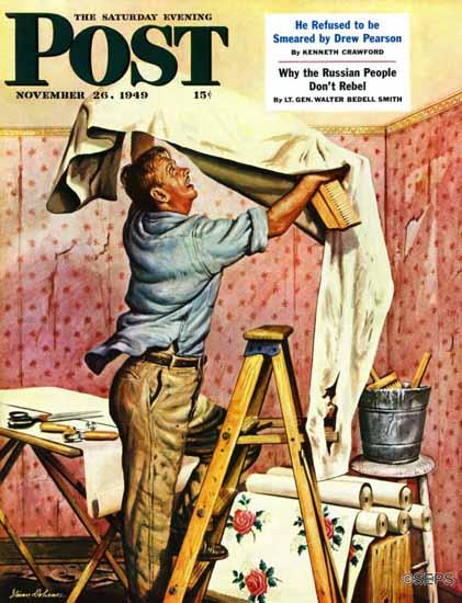 Stevan Dohanos Saturday Evening Post Renegade Wallpaper 1949_11_26 | The Saturday Evening Post Graphic Art Covers 1931-1969
