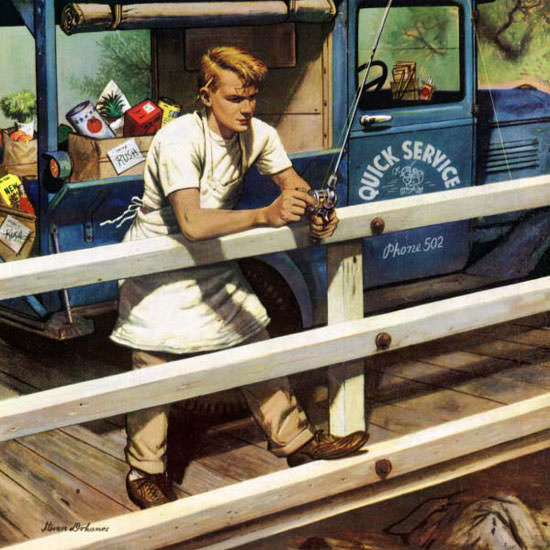Stevan Dohanos Saturday Evening Post Rush 1953_05_09 Copyright crop | Best of Vintage Cover Art 1900-1970