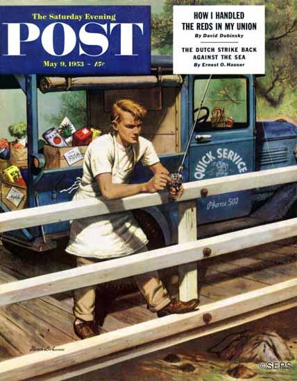 Stevan Dohanos Saturday Evening Post Rush Order 1953_05_09 | The Saturday Evening Post Graphic Art Covers 1931-1969