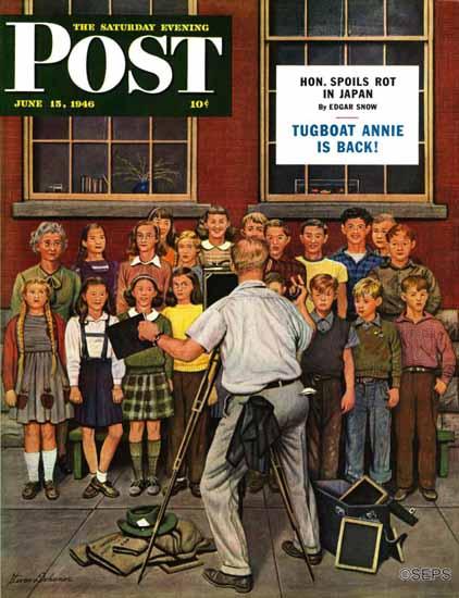 Stevan Dohanos Saturday Evening Post School Pictures 1946_06_15 | The Saturday Evening Post Graphic Art Covers 1931-1969