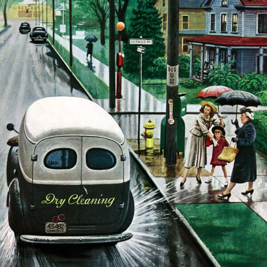 Stevan Dohanos Saturday Evening Post Truck 1948_10_02 Copyright crop | Best of 1940s Ad and Cover Art